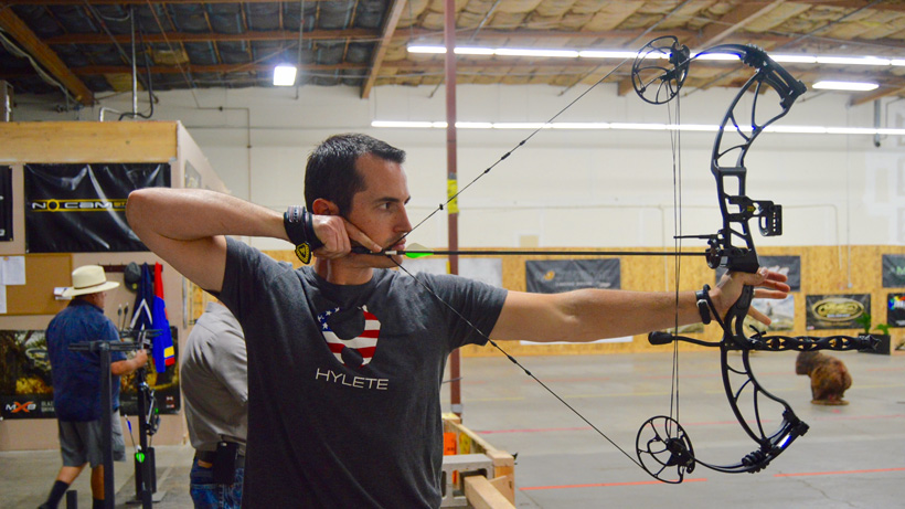 Shooting in a 3d archery league