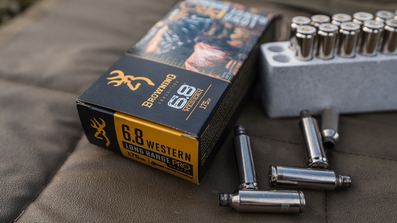 Shooting the Browning 6.8 Western at the range