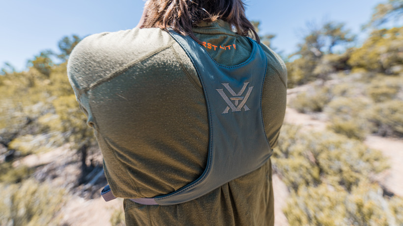 Shoulder straps of the new Vortex binocular harness