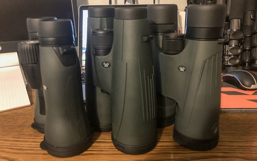 Side by side big power Vortex binoculars