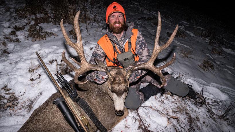 Sitka Timberline pants with Brady Miller Colorado mule deer