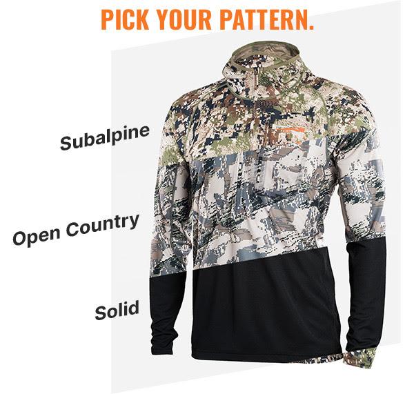 Sitka pattern options