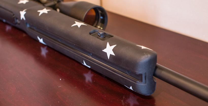 Sliding bipod swivel rail on rifle stock