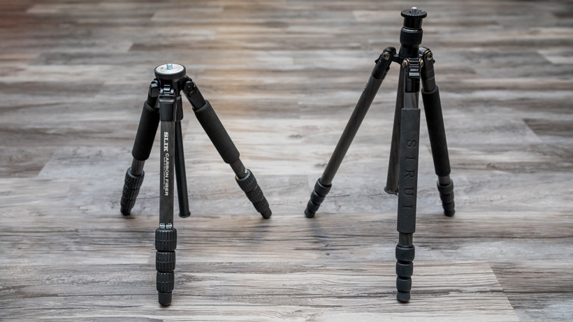 Slik pro 624 and Sirui T-024x carbon fiber tripods
