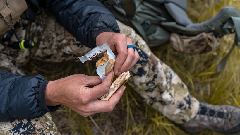 Snack time while elk hunting