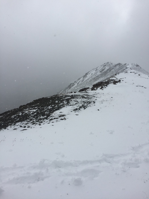 Snowstorm in the mountains