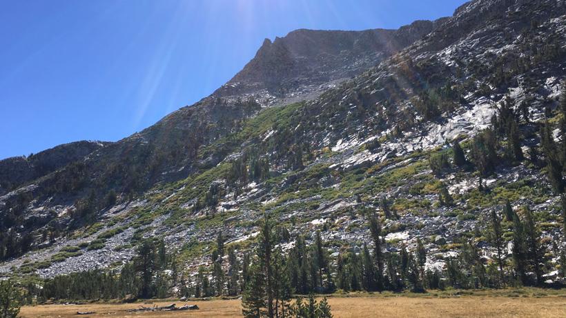 Steep mountain hunting in California