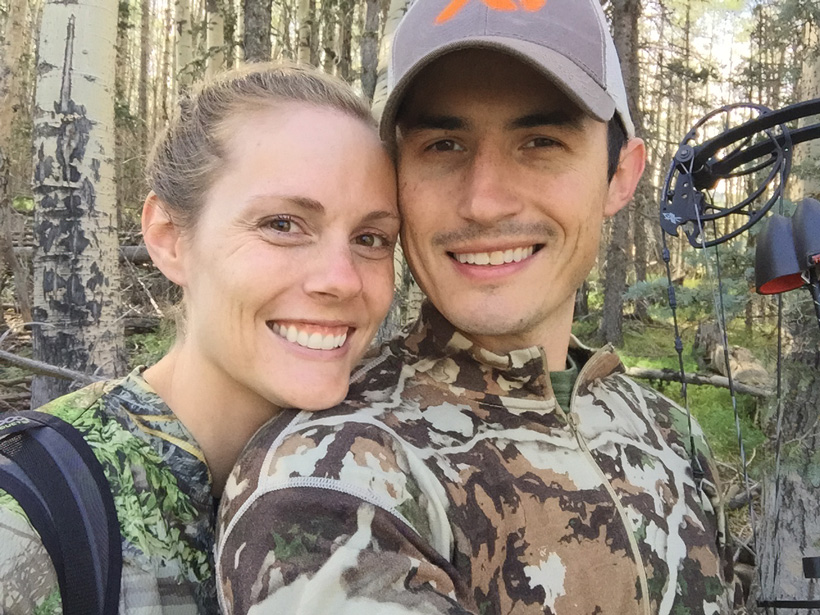 Stefan Wilson bowhunting elk with his wife