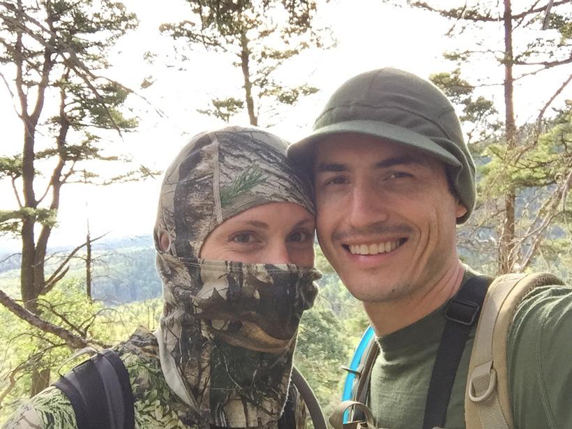 Stefan Wilson elk hunting with his wife