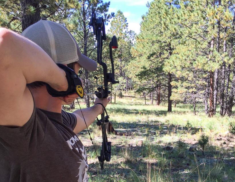 Stefan Wilson target practice during his elk hunt