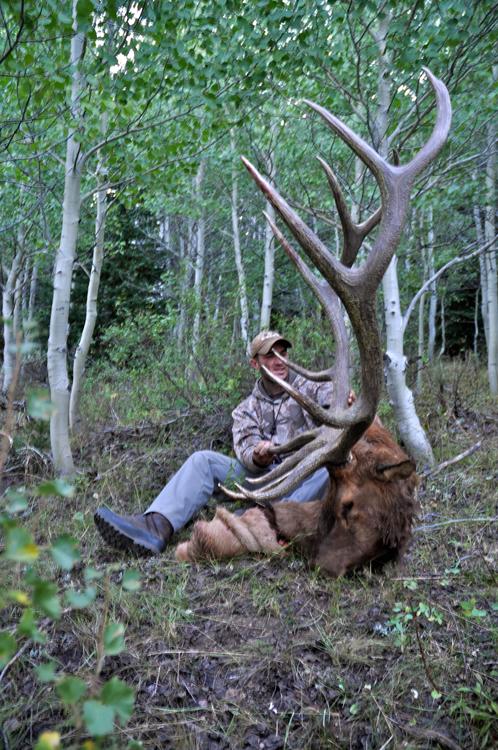 Stephen Spurlock with his bull elk