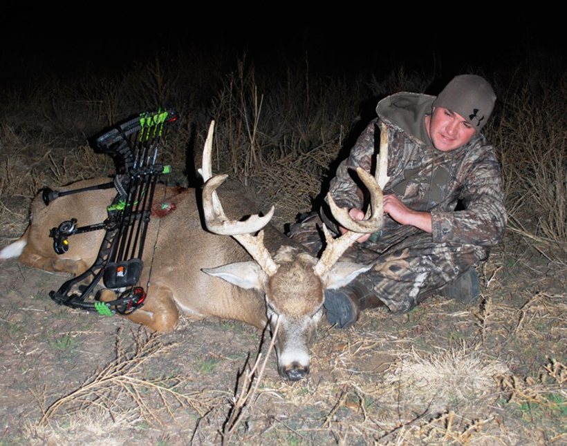 Stephen Spurlock with a post rut whitetail