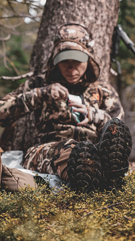 Mrs. Wright backcountry hunting