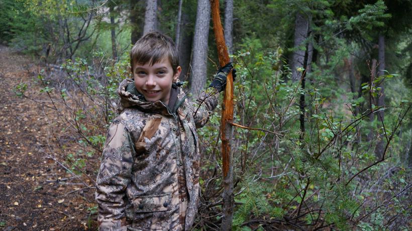Steve Alderman's son on a recent elk hunt