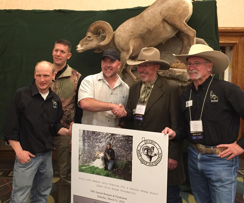 Steve Alderman winning a Dall sheep hunt