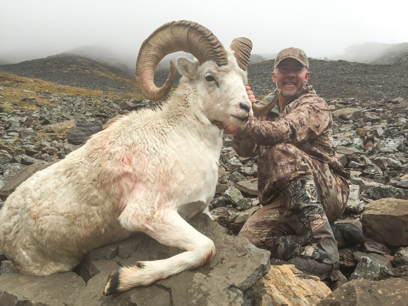 Steve Alderman with his Yukon Dall sheep