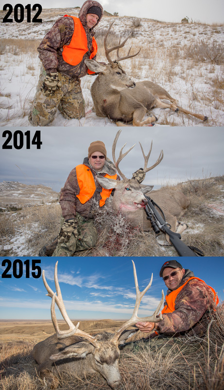 Steve King three year mule deer buck hunting journey