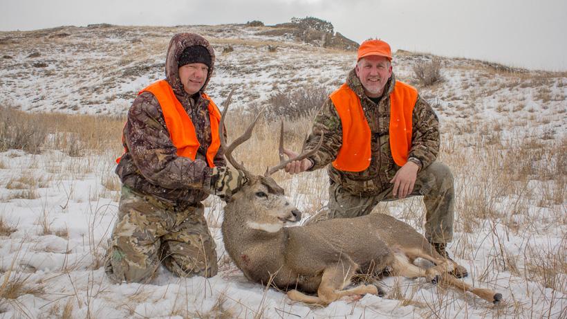 Steve King with his 2012 Montana mule deer buck