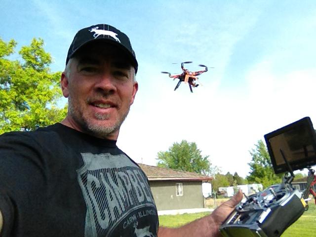 Steve flying drone