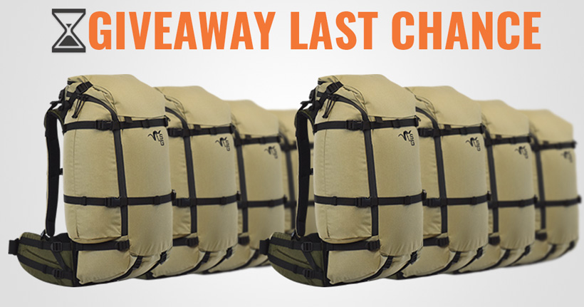 Stone Glacier EVO backpack giveaway last chance