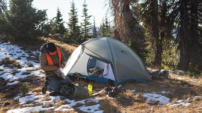Stone Glacier Skyscraper 2 person tent on mule deer hunt