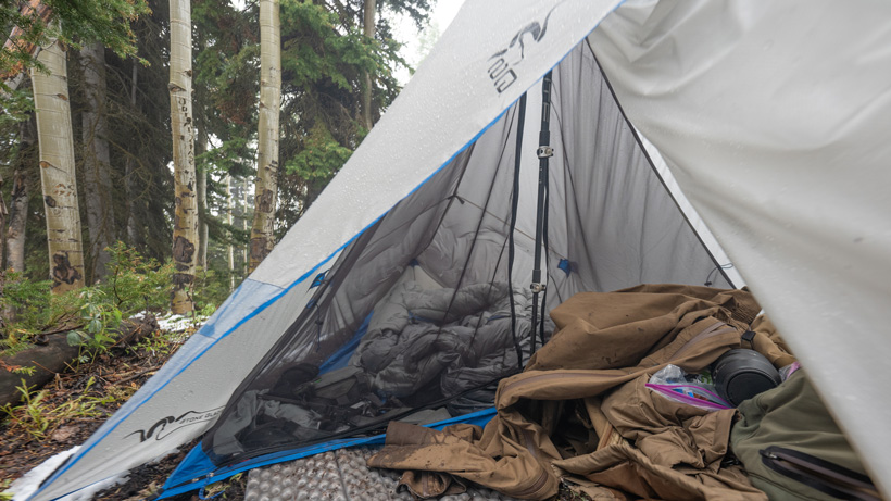 Stone Glacier sleeping bag and tent