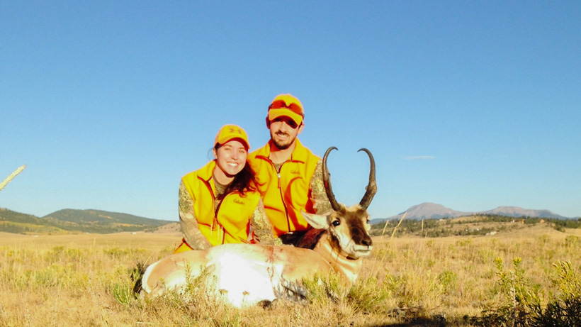 Successful antelope hunting honeymoon in Colorado