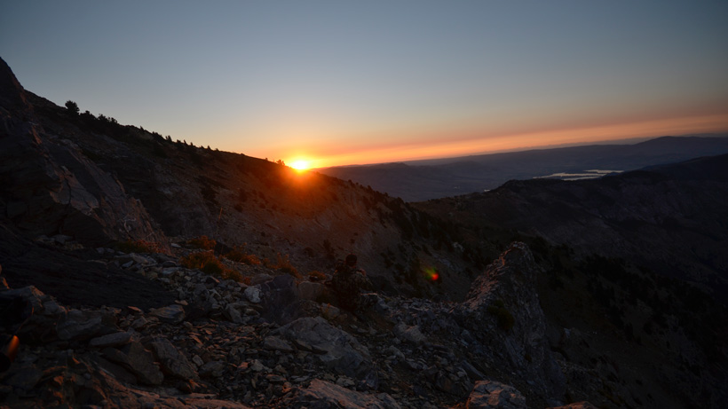 Sunrise on Utah mountain goat hunt