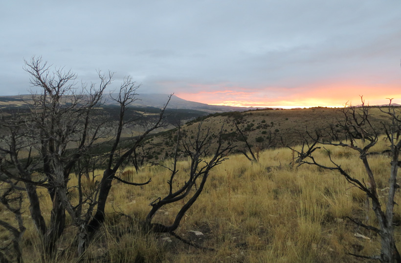 Sunrise while elk hunting in Wyoming
