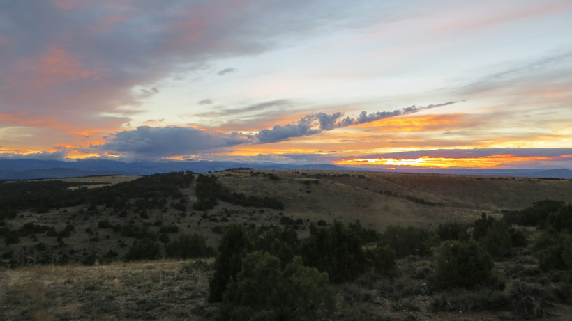 Sunset in Wyoming while elk hunting