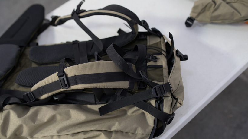 Suspension system on a hunting backpack