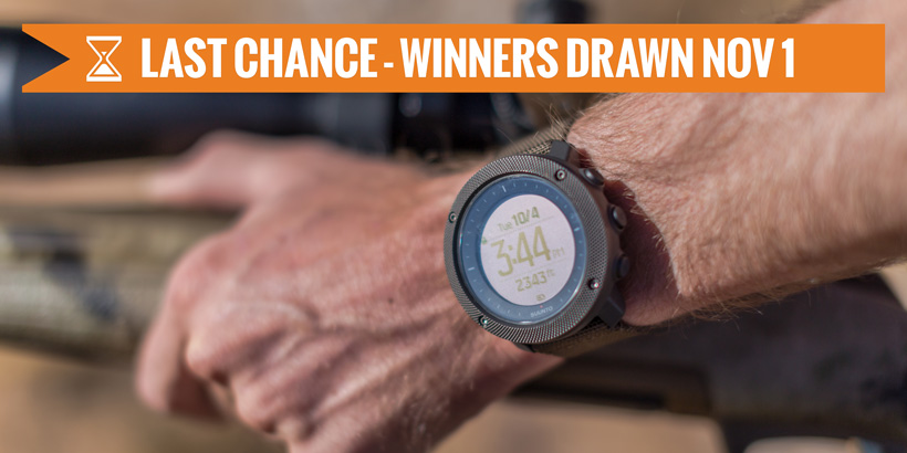 October INSIDER Suunto Traverse Alpha watch giveaway last chance