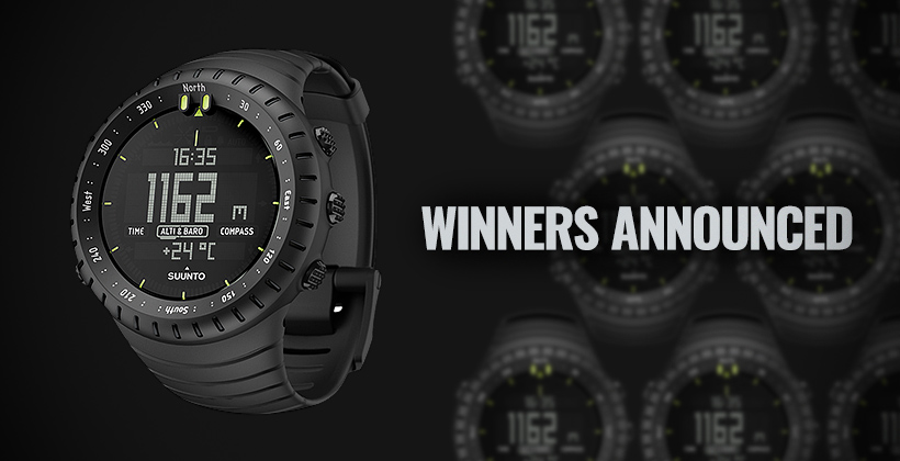 Suunto watch winners announced