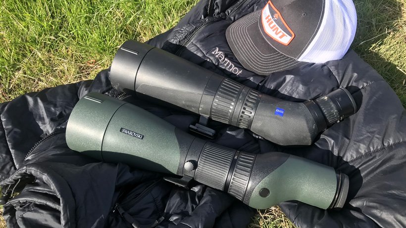Swarovski STX and Zeiss Harpia spotting scopes