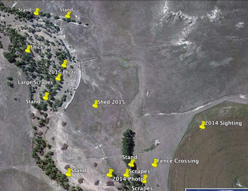 Symmetrical Ten buck locations on Google Earth
