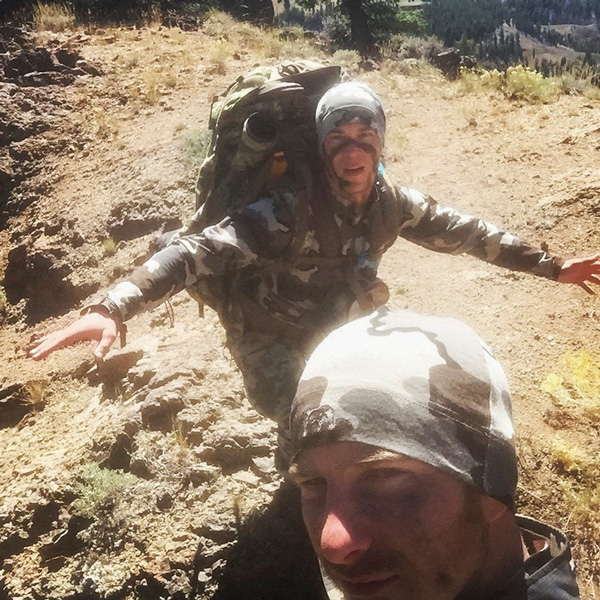 Taking a selfie while hunting