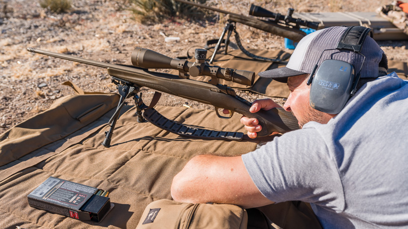 Target practice with Browning Hells Canyon Pro rifle