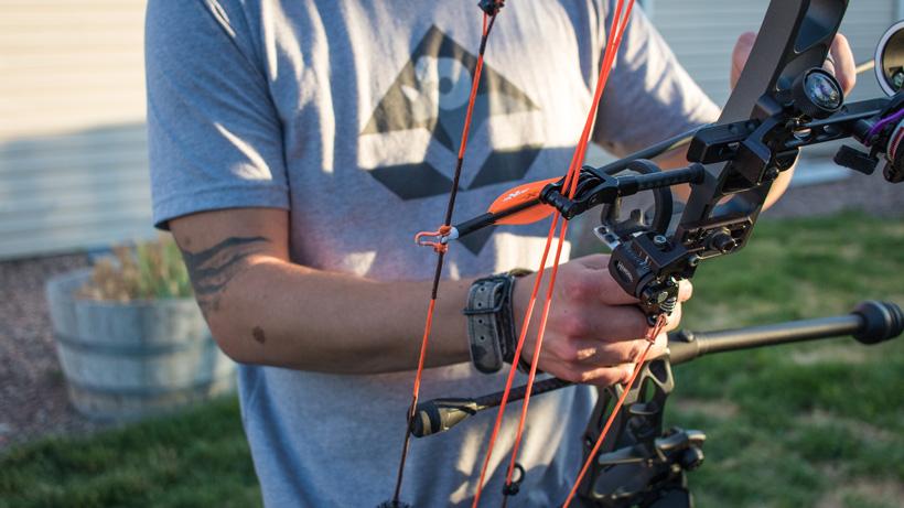 Target practice with a Mathews Traverse bow