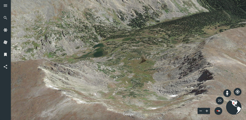 Terrain quality on Google Earth web version