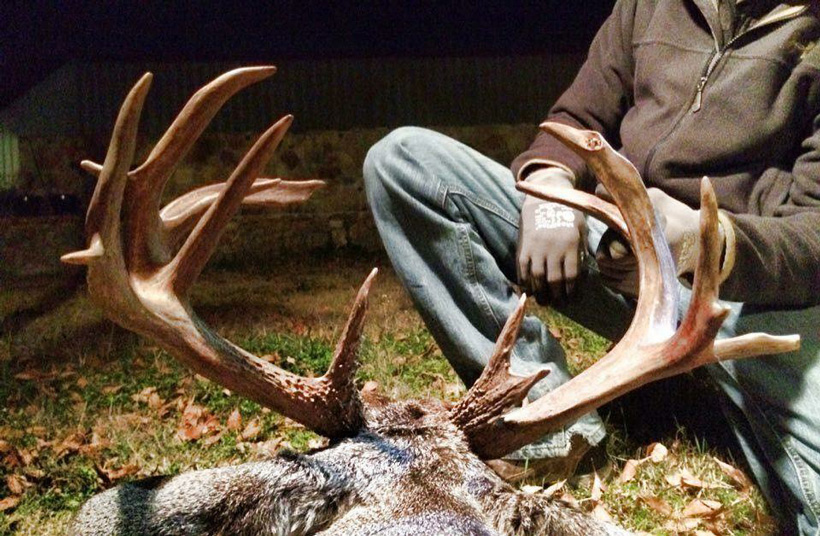 Terry Edwards nontypical world record Coues deer back view
