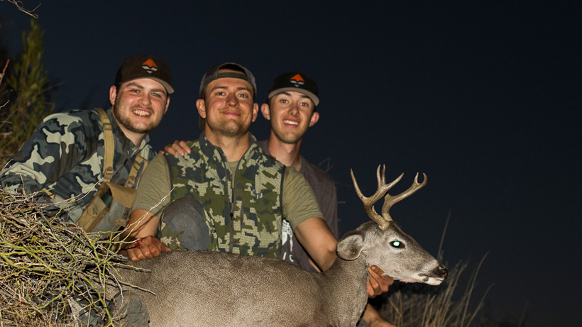 Thomas Hamilton and friends with his Arizona Coues deer
