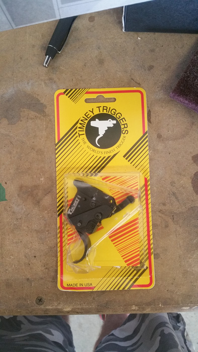 Timney 40x rifle trigger in the box