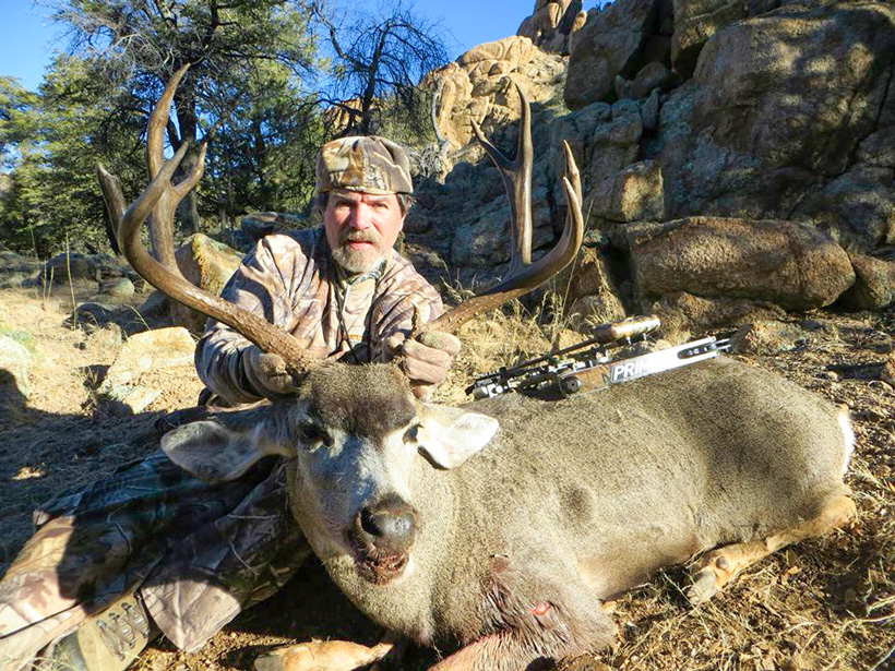 Timothy Winslow with his Arizona archery mule deer