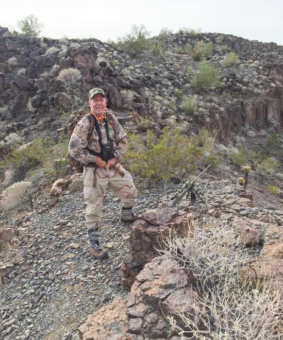 Tom on his hunt for his once-in-a-lifetime desert bighorn