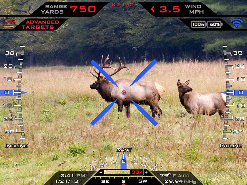 Tracking Point locked on a bull elk