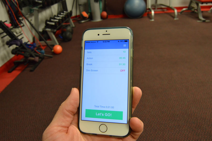 Tracking your workout on a cell phone