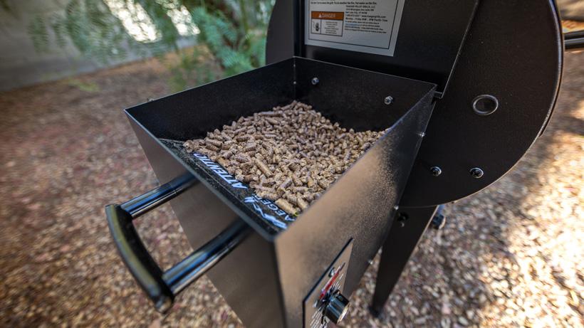 Traeger Tailgater grill pellet hopper