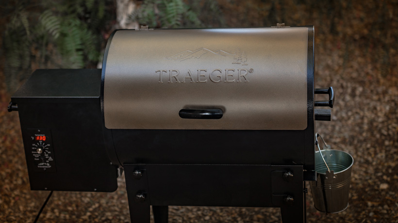 Traeger Tailgater grill side view