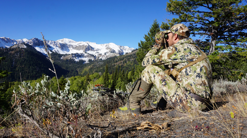 Trail Kreitzer glassing for elk