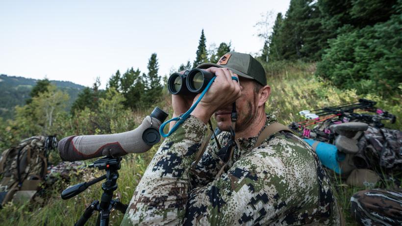 Trail Kreitzer glassing for elk